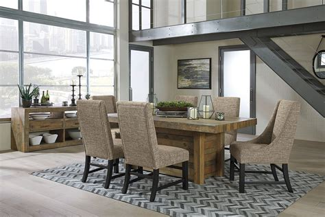 sommerford dining room set  fabric chairs  signature