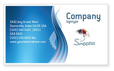 s success business card template layout