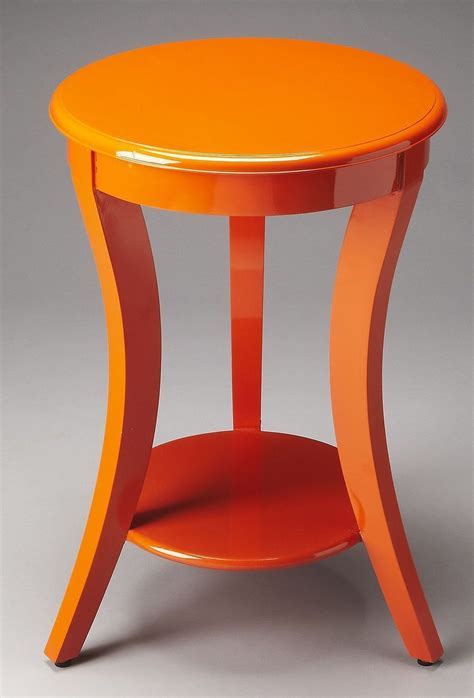 Orange Accent Tables | holden loft orange accent table from butler 4298294