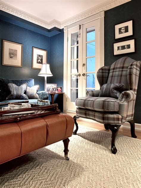 plaid living room furniture living room with plaid chair tartan tweeds pinterest