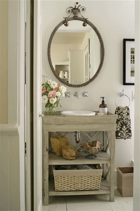 Cottage Style Mirrors Bathrooms by Gray Bathroom Vanity Cottage Bathroom Bhg