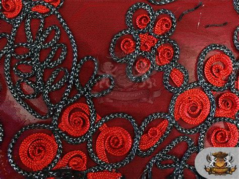upholstery cording instructions mesh metallic embroidered soutache cording fabric 03 red