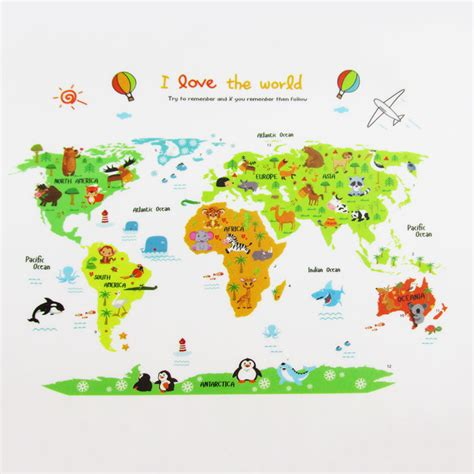 wall stickers china buy wholesale world map wall sticker from china