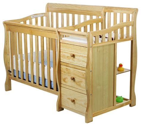 Mini Crib With Attached Changing Table On Me 4 In 1 Mini Convertible Crib And Changer Changing Tables By Dom