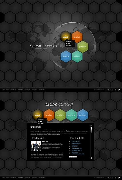 Communication Html5 Template Best Website Templates Html5 Animated Website Templates