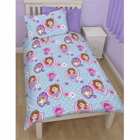 sofia the first bedding disney sofia the first bedding single double junior duvet cover sets bedroom ebay