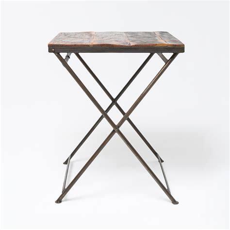 Folding Bistro Table Reclaimed Wood Folding Bistro Table
