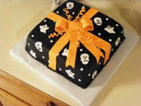 ghostly present halloween cake with fondant frosting pictures photos and images for facebook