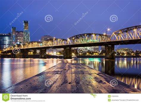 landscape of portland oregon usa royalty free stock