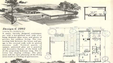 Mid Century Modern House Floor Plans
