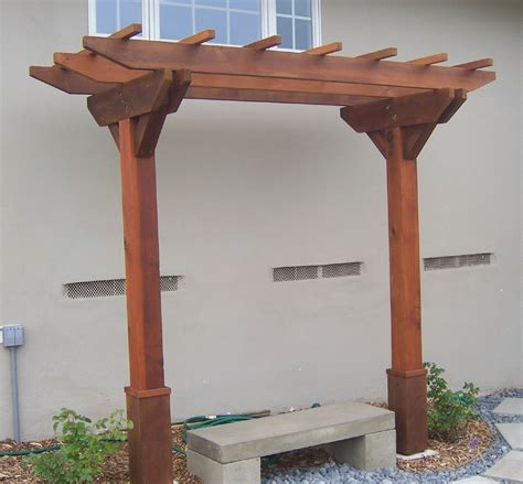 minute gardener photo wooden arbor  bench