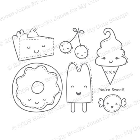 kawaii food coloring pages pictures to pin on pinterest