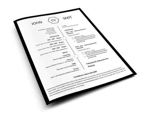 Free Resume Templates You Can Print Modern Resume Template 793 799 Free Cv Template Dot Org