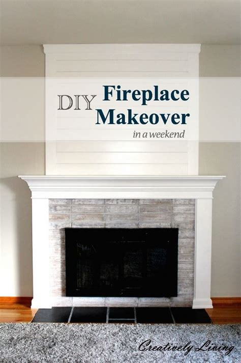 fireplace diy makeover diy fireplace makeover in one weekend 100