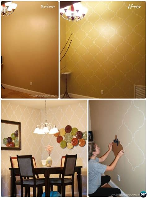 interior painting tips diy diy patterned wall painting ideas and techniques picture