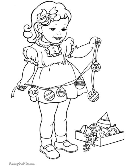 coloring page of a christmas tree with decorations christmas decorations coloring pages