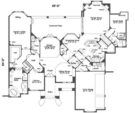 square house floor plans european style house plan 5 beds 5 00 baths 5500 sq ft