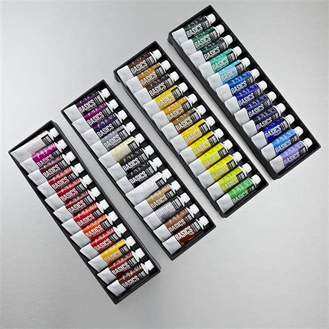 acrylic paint sets liquitex basics set of 48 22ml assorted colours acrylic