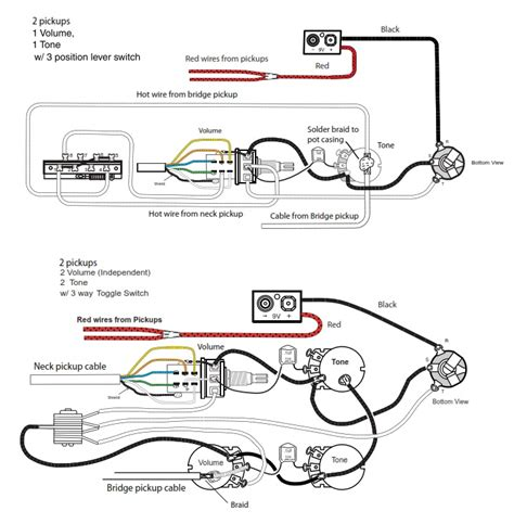 coil tap humbucker wiring diagrams