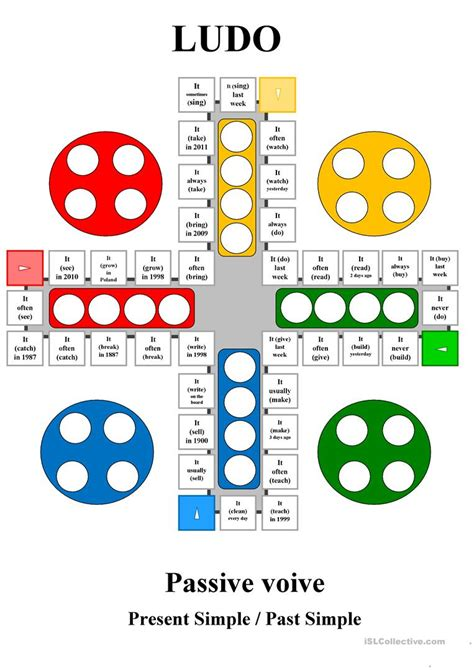let s teach english passive voice board game ludo passive voice present simple past simple