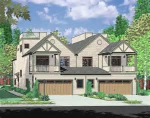 Duplex With Garage Plans by Bruinier Com House Plans Duplex Plans Row Home
