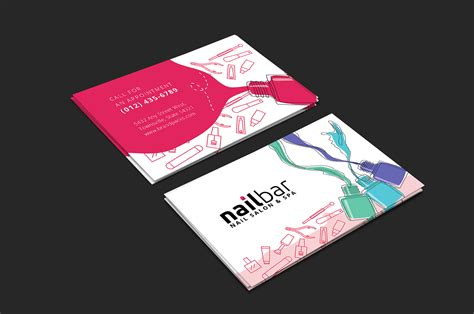 nail salon business card template for photoshop