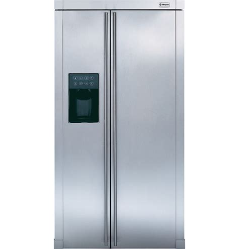 ge monogram refrigerator zfsb26dnss ge monogram 174 free standing side by side