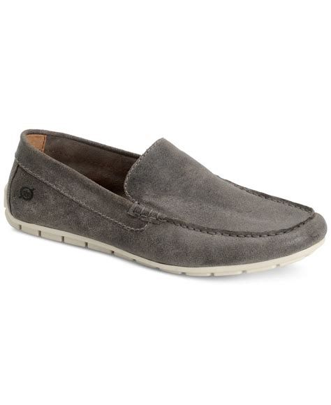 grey loafers for born s allan loafers in gray for grey lyst