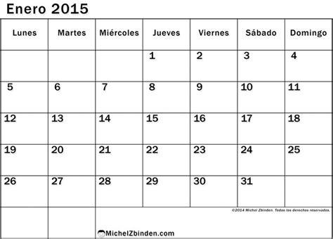 calendario enero 2016 para imprimir semana calendarios michel m 225 s de 25 ideas incre 237 bles sobre calendario enero 2016 en
