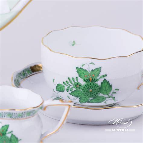 Green Tea Set by Apponyi Green Tea Set Av Herend Austriaherend Austria