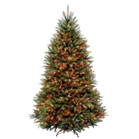 tree with multicolor lights national tree company 6 5 ft dunhill fir artificial