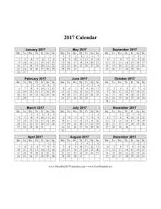 Printable Calendar 2017 Monday Start Printable 2017 Calendar On One Page Vertical Week Starts