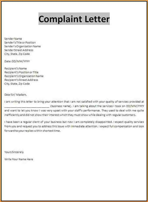 Letter Acknowledging Customer Complaint doc customer complaint template sop word best templates