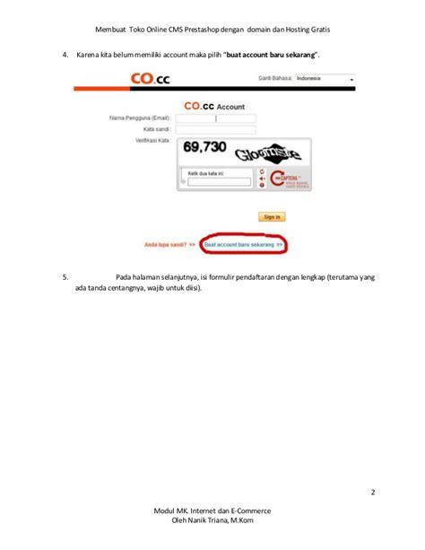 membuat toko online dengan hosting gratis membuat toko online gratis dengan cms prestashoop