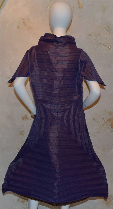 Origami Evening Dress - issey miyake purple pleated origami a line dress for sale