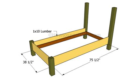 twin size bed frame plans howtospecialist   build