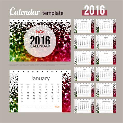creative calendar 2016 template vector 06 vector