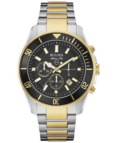 Jam Tangan Michael Kors Newyork Fullgold bulova s chronograph marine two tone stainless steel bracelet 43mm 98b249