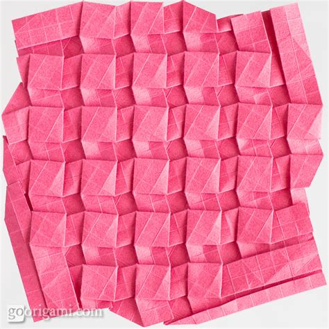 tessellation origami origami tessellations corrugations fractals gallery