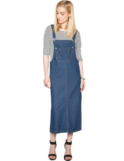 Suspender Denim Dress denim suspender dress overall denim dress 49
