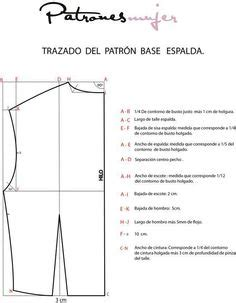 basic pattern in spanish patr 243 n b 225 sico trasero de blusa pattern basic back top in