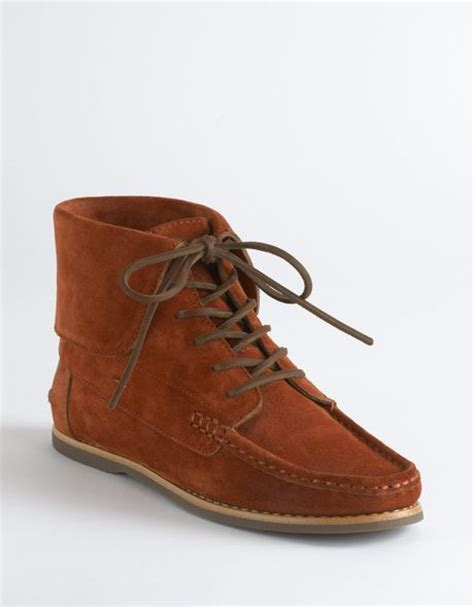 frye quincy flat ankle boots in brown burgundy suede lyst