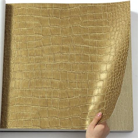 gold effect wallpaper crocodile leather effect metallic gold wallpaper maximum