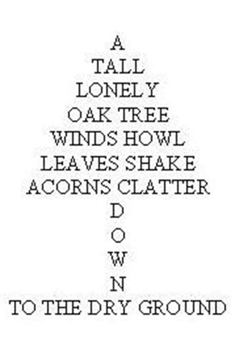 tree shape poem template 25 best ideas about shape poems for on