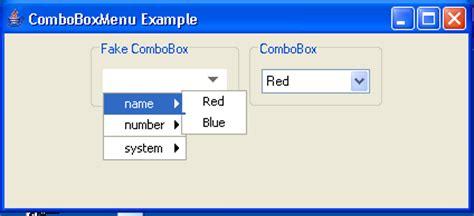 java swing combobox tooltip combobox exle combobox 171 swing components 171 java