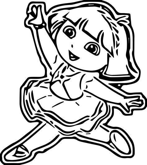 dora ballerina coloring pages dora ballerina coloring pages murderthestout