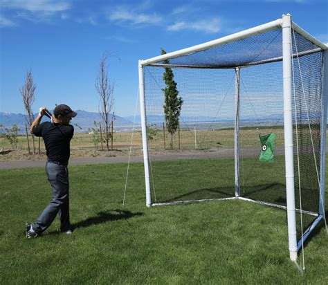 golfing nets for a backyard turn your backyard into a driving range with this full