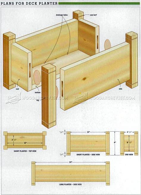 deck planter plans woodarchivist