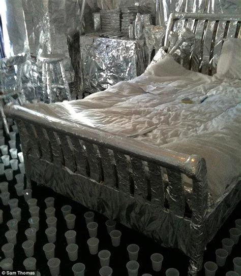 bedroom pranks pranksters spend days wrapping housemate s room in foil daily mail
