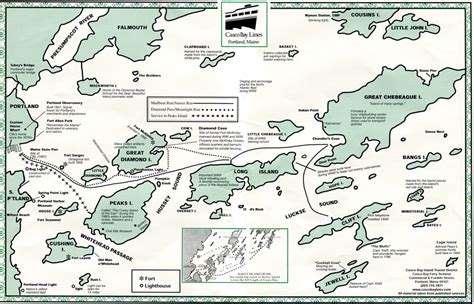 casco bay chart images